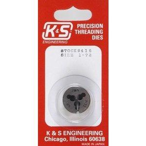 K&S Engineering . K+S 1-72 THREADING DIE