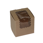 Retail Supplies . RES Kraft Window Single Cupcake Box