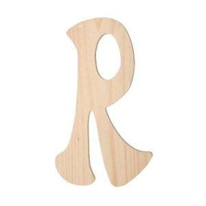 """Darice . DAR (DISC) 6"""" Wood Letter R"""