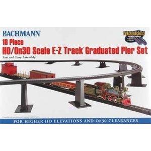 Bachmann Industries . BAC EZ Graduated Pier Set HO