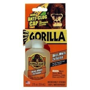 Gorilla Glue . GAG Trilingual Dries White 2x Faster Glue 2 oz