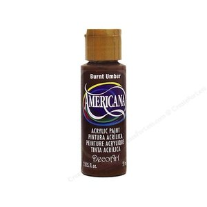 Decoart . DEC (DISC)-Burnt Umber Acrylic 2 oz