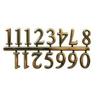 "Walnut Hollow . WNH 5/8"""" GOLD CLOCK NUMERAL ARABIC"