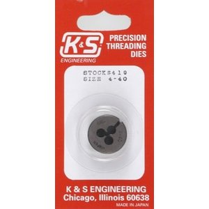 K&S Engineering . K+S 4-40 Threading Die