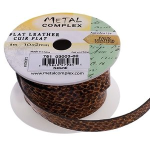 John Bead Corporation . JBC (DISC) - Faux Snake Leather Natural