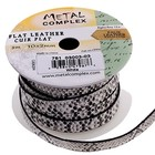John Bead Corporation . JBC (DISC) - Faux Snake Leather White