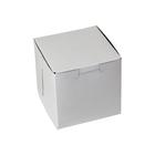Retail Supplies . RES 4 X 4 X 4 White Bakery Box (1 Cupcake)