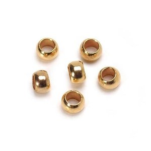 Darice . DAR 1.3 mm Crimp Beads Gold 6 pcs