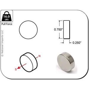 Magcraft Magnets . MFM 3/4X1/4 Rare Earth Disc Magnet