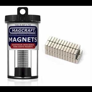 Magcraft Magnets . MFM 1/4X1/4X1/10 Rare Earth Blk Ma