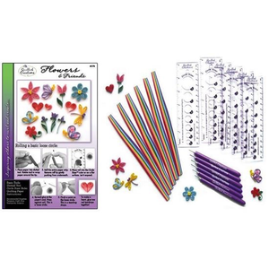 Quilled Creations . QUI Flowers & Friends Class Pack (6 kits)