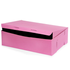 Retail Supplies . RES 14 X 10 X 4 Pink 12 Cupcake Box