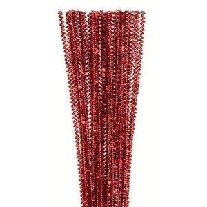 "Darice . DAR 12"" X 3 mm Tinsel Red Stems"