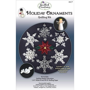 Quilled Creations . QUI Holiday Ornament Quilling Kit