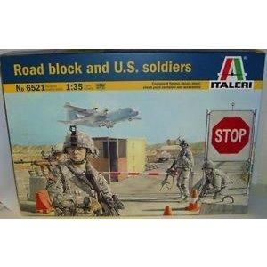 Italeri . ITA 1/35 ROADBLOCK/US SOLDIER