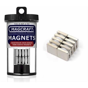 Magcraft Magnets . MFM 1/2X1/2X1/8 Rare Earth Bloc Ma