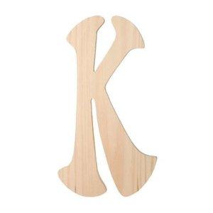 """Darice . DAR (DISC) 6"""" Wood Letter K"""