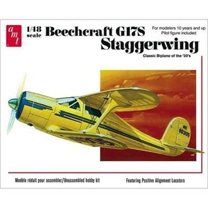 AMT\ERTL\Racing Champions.AMT 1/48 Beechcraft F17S Stagger Wing