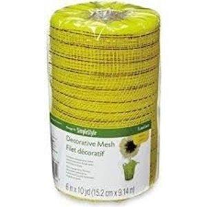 "Floracraft . FLC Decorative Mesh 6"" - Metallic Yellow"