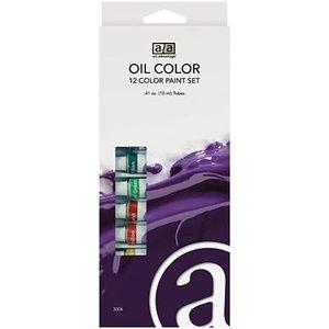 Art Advantage . ART 12 Color Oil Paint Set