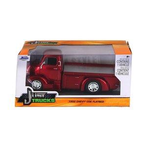 Jada Toys . JAD 1/24 52 Chev Coe Fltbed Red