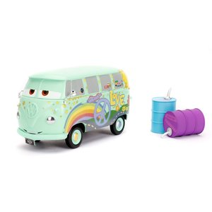 Jada Toys . JAD 1/24 Disney Pixar Cars - Fillmore with Oil Cans