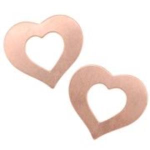"IMPressArt . IAD ImpressArt - Heart Open 3/4"" - Copper - 2pc"