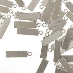"IMPressArt . IAD ImpressArt - Tag, Rectangle Aluminum with Ring 5/8""X3/16"" - 24pcs"