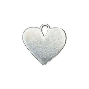 "IMPressArt . IAD ImpressArt - Heart, Pewter with hole 3/4"" (19mm) - 2pc"