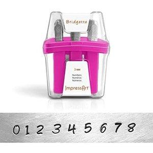 IMPressArt . IAD ImpressArt - Numbers 3mm - Bridget (Font)