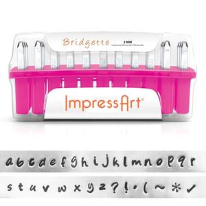 IMPressArt . IAD ImpressArt - Lowercaes 3mm - Bridgette (Font)