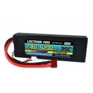Common Sense R/C . CSR Lectron Pro 7.4V 5200mAh 35C Lipo W\Deans-Type