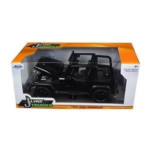 Jada Toys . JAD 1/24 1992 JEEP WRANGLER BLACK