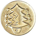 Manscript . MAN Christmas Seal Coin