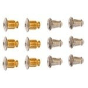 John Bead Corporation . JBC Earring Clutch Bullet Gold & Silver