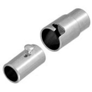John Bead Corporation . JBC Magnetic Clasp 15 mm Silver Lf/Nf Twist