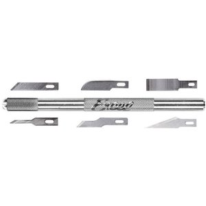Excel Hobby Blade Corp. . EXL K1 KNIFE HANDLE ONLY /W6 ASSORTED BLADES
