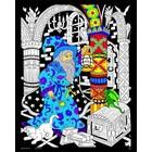 Stuff To Color . SFC 16X20 Velvet Poster Wizard
