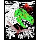 Stuff To Color . SFC 16X20 Velvet T-Rex Jungle