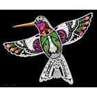 Stuff To Color . SFC 16X20 Velvet Poster Inner Nature Hummingbird Animals Art Calgary