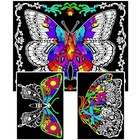 Stuff To Color . SFC Multi Pack Velvet Geo Butterfly Colourful Nature Art Calgary