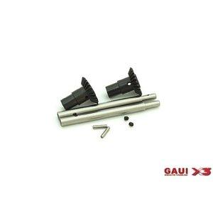 Gaui . GAI X3 OUTPUT SHAFT W/BEVEL