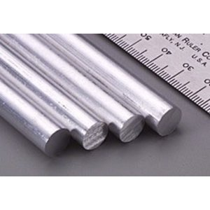 "K&S Engineering . K+S Solid Alum Rod 12""X 3/8"