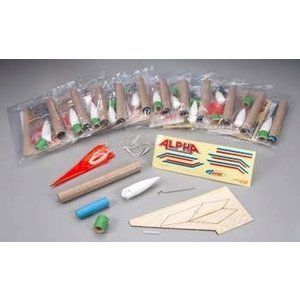 Estes Rockets . EST Alpha Educator Pack (12)
