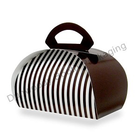 Retail Supplies . RES (DISC) 6 Cupcake Brown & White Stripe Bakery Box