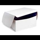 Retail Supplies . RES (DISC) 7 x 7 x 4 White Bakery Box