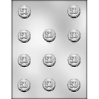 "CK Products . CKP 1-3/8"" Number 50 Mint Chocolate Mold"