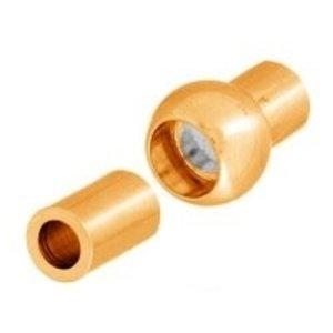 John Bead Corporation . JBC Magnetic Clasp 15.5 mm Gold Lf/Nf Centerball