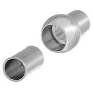 John Bead Corporation . JBC Magnetic Clasp 16.5 mm Silver Lf/Nf Centerball