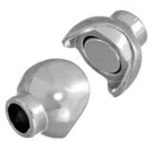 John Bead Corporation . JBC Magnetic Clasp 14.5 X 1 mm Silver Ball